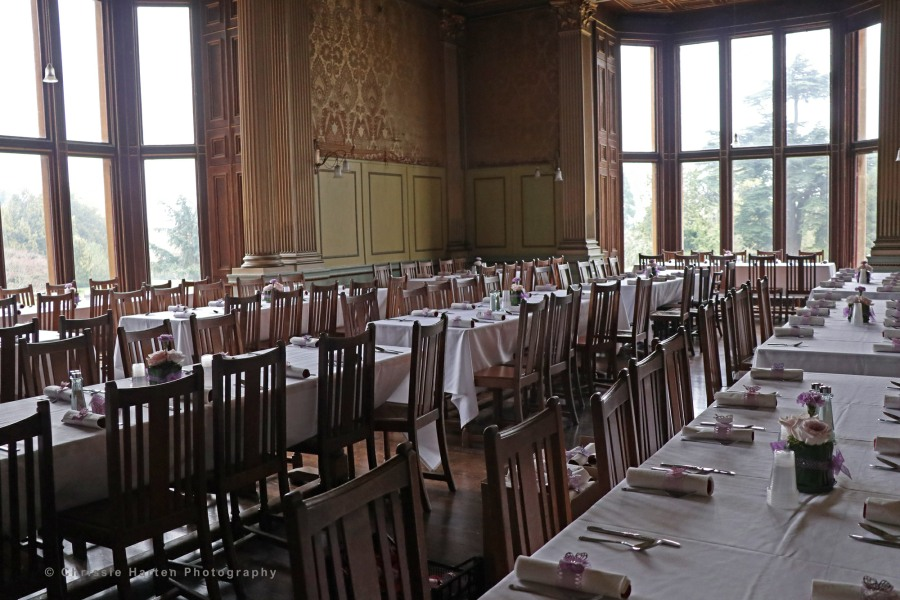 The dining room all set for our lunch
