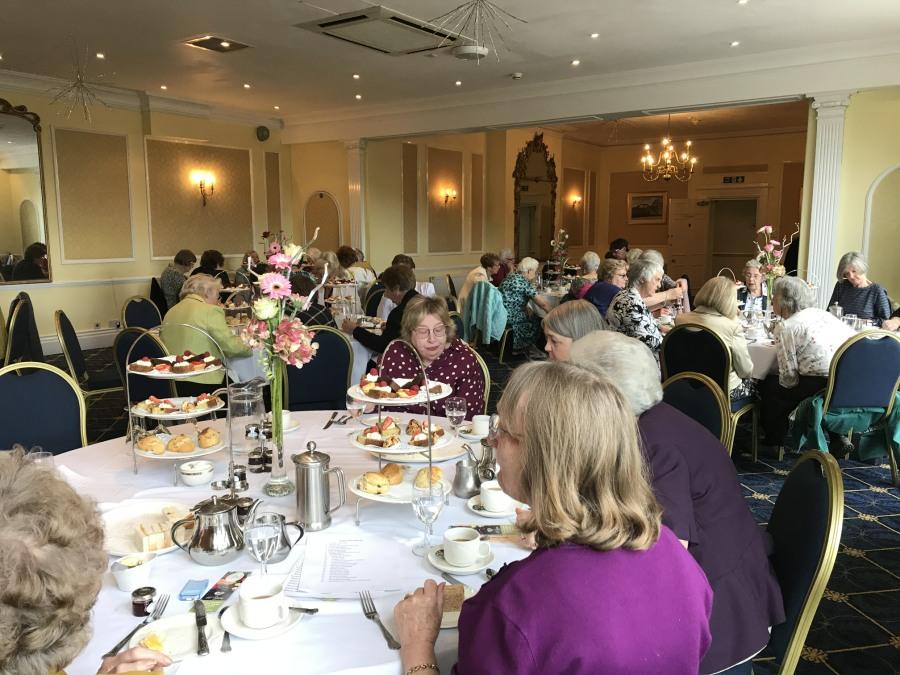 Enjoying our afternoon tea! Chase Hotel, April