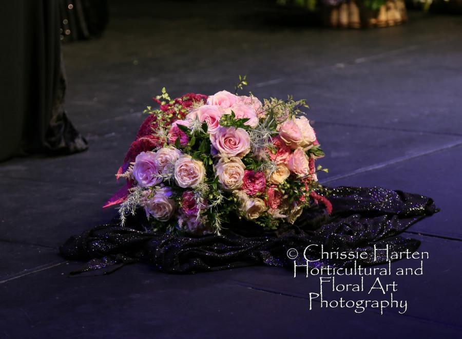 Derek's hand-tied bouquet completed