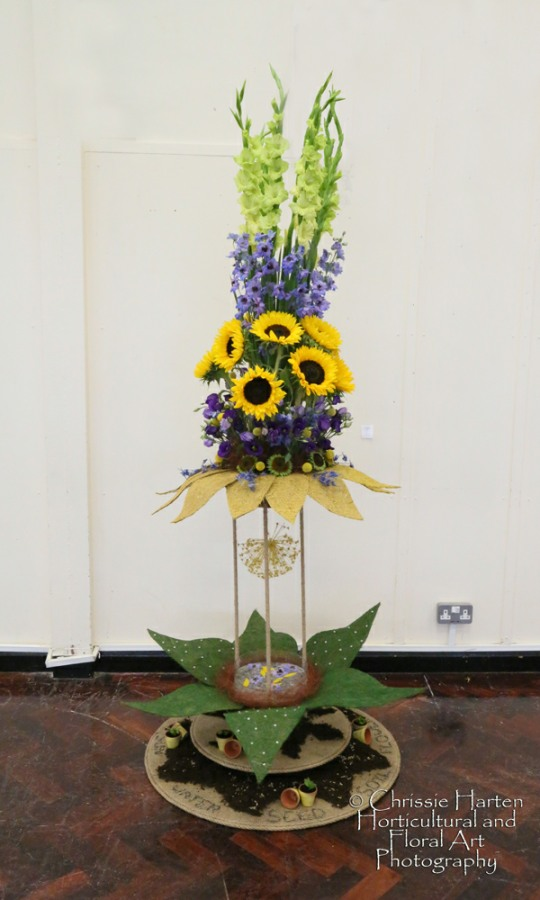 """Summer Magic"" (Club Class) - Commended - Pontypool and District Flower Arranging Society (Sue Fernandez-Gomez & Mary Evans"